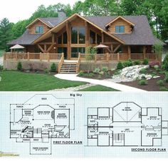 Brilliant Log Cabin Floor Plans 61 on Home Decor A. - Brilliant Log Cabin Floor Plans 61 on Home Decor A. Log Cabin Floor Plans, Log Home Plans, House Floor Plans, Mountain Home Plans, Country Home Plans, Country Cabin Decor, Loft Floor Plans, Porch House Plans, Rustic House Plans