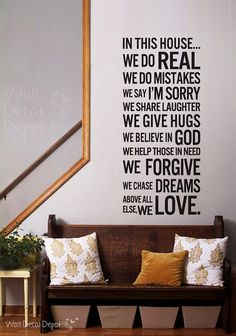 Vinyl Wall Decal Wall Sticker Words   House by WallDecalDepot, $45.00  i love this