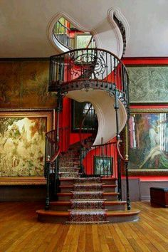 Romantic Antique Spiral Stairs