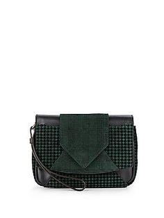 56d0aa33f0 DANNIJO Rocha Printed Leather Clutch - Petrol - Green - Size No Size  Discount Designer