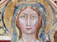 Anonimo umbro.Tabernacolo della Maestà, dettaglio - XIV sec. - Castelbuono di Bevagna (PG)