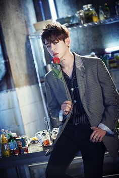 B.A.P radiate charisma in a group teaser image for 'Rose' | allkpop.com