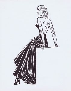 Miss Lynx print by Milton Caniff Comic Art