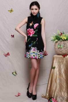 Traditional Chinese Dress - Elegant Evening Qipao Dress: Mysterious Spring $89.00 (67,05 €)
