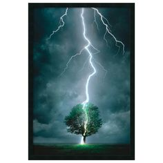 Lightning Strikes Framed Wall Art
