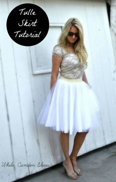 Tulle Skirt Tutorial || Simple, easy to follow