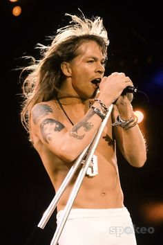 Axl Rose...oh you were hot back then...not now...but not now :(