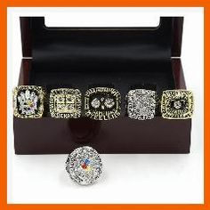 [ 20% OFF ] For Replica Pittsburgh Steelers Super Bowl Set(1974/1975/1978/1979/2005/2008) Championship Ring For Fans