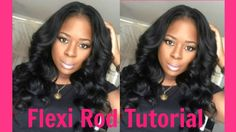 No Heat Bombshell Waves Flexi Rod Tutorial Roll Hairstyle, Curled Hairstyles, Trendy Hairstyles, Weave Hairstyles, Hairdos, Updos, Flexi Rod Curls, Flexi Rods, Youtube Hair Tutorials
