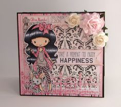 Splendid Stamping with The Greeting Farm: Card Featuring Anya Strolls and a Cheeky Geeky altered gift card tin
