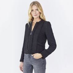 Longline Linton Tweed Jacket | Coats & Jackets | Clothing | The ...