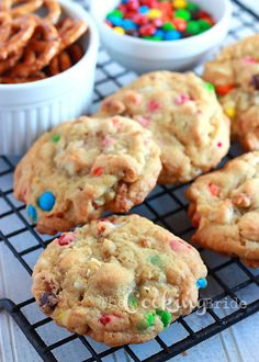 Loaded Cookies with Pretzels, Coconut, and M's - CookingBride.com