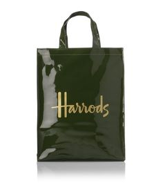 Harrods Green & Gold Shopping Tote (almost bought one of these in London)