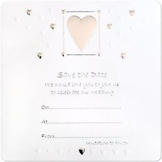 Wedding Wedding Save The Date Cards £3.25 10pk