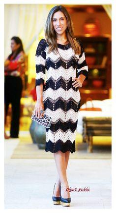 Vestido con un patrón de zigzag .. Discusión liveinternet - Servicio de Rusia Diarios Online