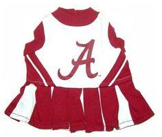Alabama Football Pet Cheerleader Outfit