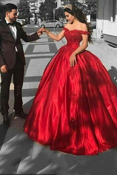 Elegant Arabic Red Prom Dress,Ball Gown Prom Dresses ,Long Off The Shoulder Prom Dress,Lace Appliques Beaded Puffy Evening Dress,Party Gowns Quinceanera Dress Lace Ball Gowns, Ball Gowns Evening, Ball Gowns Prom, Ball Gown Dresses, Dresses Uk, Evening Dresses, Party Dresses, Satin Dresses, Long Dresses