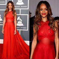 Rihanna brilla en la gala de los Grammys.