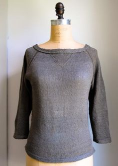 FREE Everyday Linen Raglan knitting pattern on Purl Soho