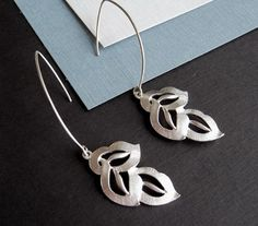 silver leaf earrings $18.00