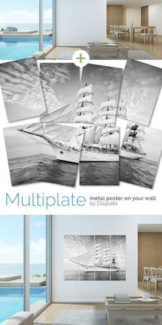 I'm not afraid of storms, for I'm learning hot to sail my ship. Amazing large size artwork printed on metal plates to give your home a fresh look! Click through to see more similar metal posters!