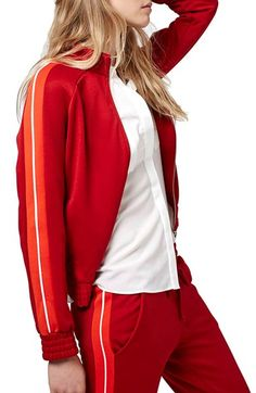 Topshop Zip Front Sweatshirt