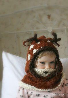 Ravelry: Deer fawn hood Bämbi pattern by Muki Crafts