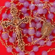 Miraculous Medal Wire-Wrapped Rosary - https://www.rosarybay.com/catholic/miraculous-medal-wire-wrapped-rosary