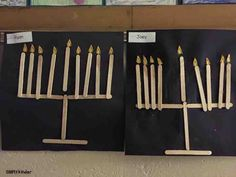 Make a popsicle stick menorah when you discuss Hanukkah. It's an easy craft using supplies you most likely already have in your class!