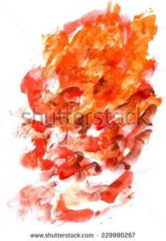 Abstract grunge gouache painting background of orange and black color.