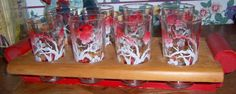 Set of 8 FEDERAL GLASS CO. Vintage 8 ounce by vintageguinea