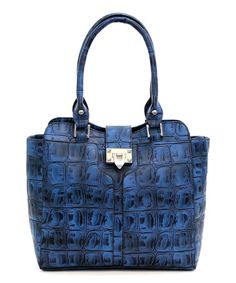 Love this Blue Abigail Tote by d'Orcia on #zulily! #zulilyfinds
