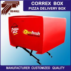 Corrugated plastic correx Bike motorcycle scooter delivery box for pizza