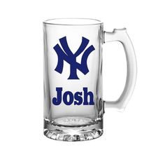 New York Yankees-Yankees Beer Stein-Personalized Yankees Gifts-Personalized MLB Gifts-Fathers Day-Groomsmen Gifts-Yankees Mug