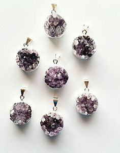 Check out this item in my Etsy shop https://www.etsy.com/listing/254126587/round-amethyst-druzy-pendant-purple