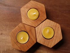 beehive geometry | they're in stock and ready to ship! modular candle holder  (set of three)  | by prettydreamer #home #design #modern