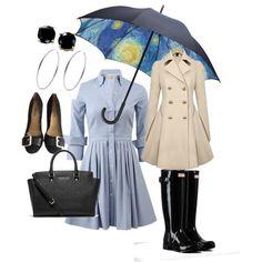 Rain by daniela-davis on Polyvore featuring polyvore fashion style Michael Kors Hunter MICHAEL Michael Kors B. Brilliant Moma