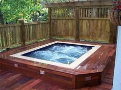 we want to build up a deck around the tub--this is an idea...