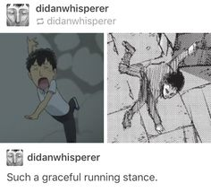 Quite the running stance. :0