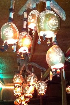 Gourd Lights -How Creative : decorated gourds ideas - www.pureclipart.com
