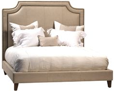 upholstered king bed in taupe 91x78x60h MSRP $2685. Contractor Price $1790