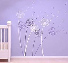 Dandelion stencil from Cutting Edge Stencils. Possible idea for painting the dining room table.