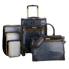 Samantha Brown 5Piece Classic Luggage Set  Navy Blue >>> Continue to the product at the image link.