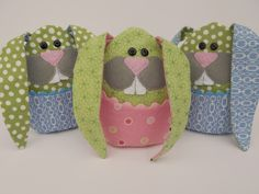 my Little Bunny Boo Boos - tutorial and pattern
