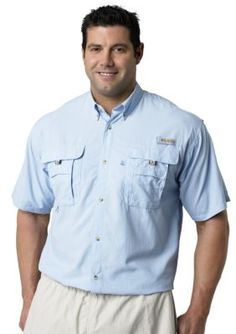Columbia Men's Big & Tall Pfg Bahama™ Ii Short Sleeve Shirt - Blue - 2Xlt
