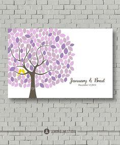 Guest Book Personalized Wedding Tree Gift by lemonANDlimeStudio