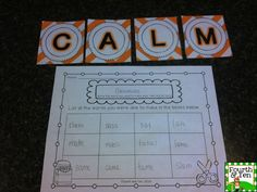 Back to School Making Words, perfect for word work!