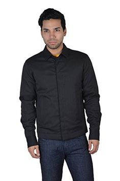 Dsquared2 Men's Wool Black Lightly Insulated Button Down Shirt Jacket US S IT 48