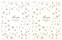 Free Printable Greeting Card, Flower Pattern, Useful For Your Treat And Favor   morecozy