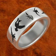duck band rings duck wedding band